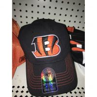 '47 Brand All Black Closer Cincinnati Bengals Large B Logo Hat