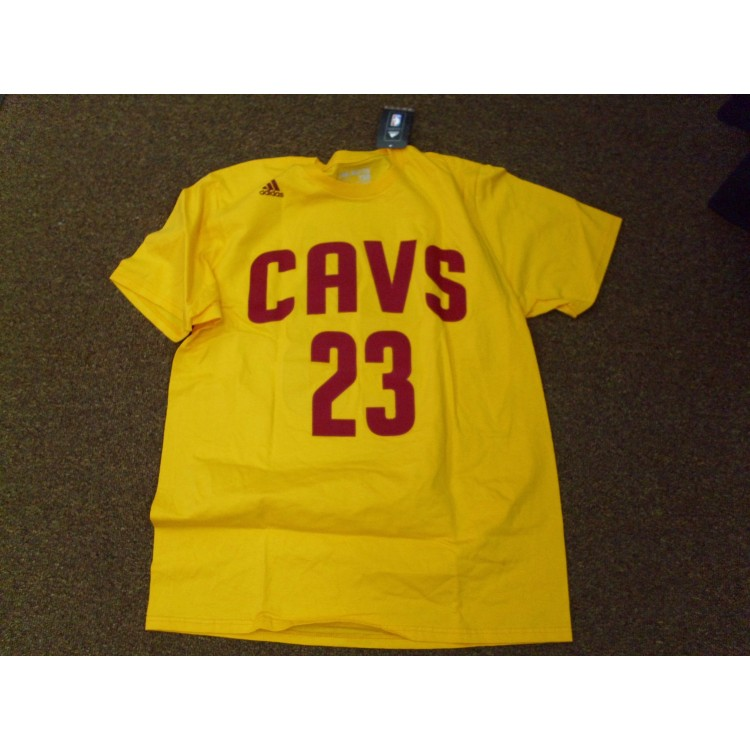 size 40 bcdc4 28dfe Adidas Gold Cavs 23 Lebron James Tee Shirt