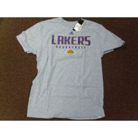 Adidas Gray/Purple Los Angeles Lakers Basketball Tee Shirt