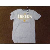 Adidas Gray/White Los Angeles Lakers Basketball Tee Shirt