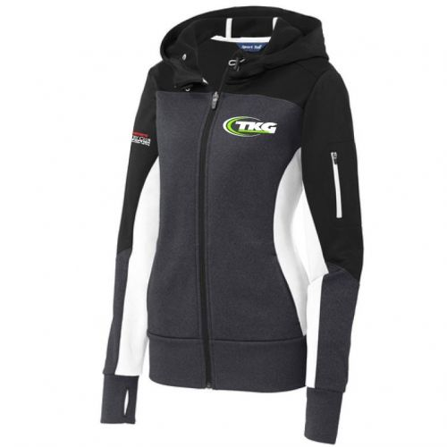 TKG Ladies Tech Fleece Colorblock Full-Zip Hooded Jacket