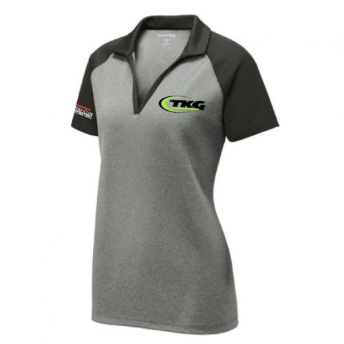 TKG Ladies PosiCharge RacerMesh Raglan Heather Block Polo
