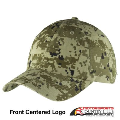 Motorsports Country Club Port Authority® Digital Ripstop Camouflage Cap #2