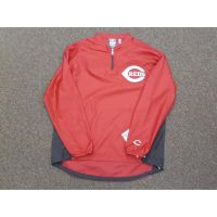 Majestic Red Cincinnati Reds Quarter Zip Windbreaker