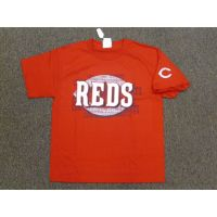 Red Cincinnati Reds Big Logo w/ Logo on Sleeve Tee