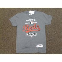 Charcoal Property of Cincinnati Reds Youth Tee