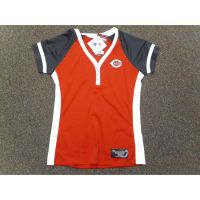 Red Cincinnati Reds Ladies Henley