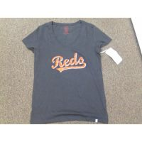 Women's Black Cincinnati Reds V-Neck