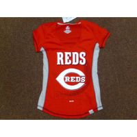 Women's Red Cincinnati Reds Gray Sides Tee