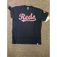 '47 Brand Cin Reds Black Tee/ Embr logo chest and sleeve