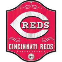 "Cincinnati Reds 11""x13"" Wood Sign"