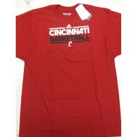 Adidas Red Cincinnati Basketball Tee Shirt