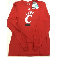 Adidas Red Cincinnati Bearcats C Logo Long Sleeve Tee