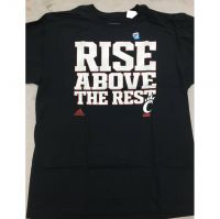 "Adidas Black Cincinnati Bearcats ""Rise Above the Rest"" Tee Shirt"