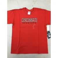 "Red Cincinnati Bearcats ""Light C Logo"" Youth Tee Shirt"
