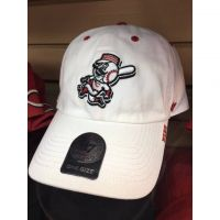 '47 Brand CIncinnati Reds All White Mr. Redlegs Baseball Cap