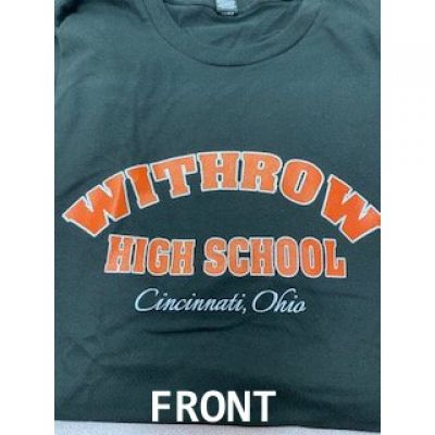 Withrow Tigers Black soft style mascot Tee Shirt