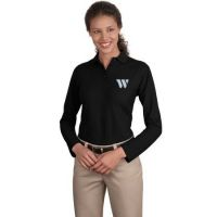 L500LS Port Authority Women's Long Sleeve Silk Touch Polo