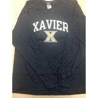 Xavier Navy Blue Long Sleeve Tee